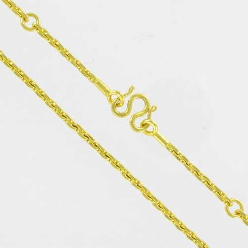 Thai gold necklace, 5 Baht 76 G 23K - 70 cm