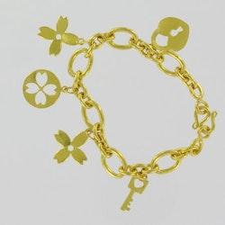 Thai gold bracelet, 1 Baht 15,2 G 23K - 16,5 cm