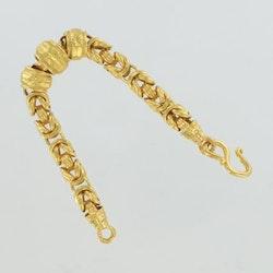 Thai gold bracelet, 5 Baht 75,8 G 23K - 20 cm