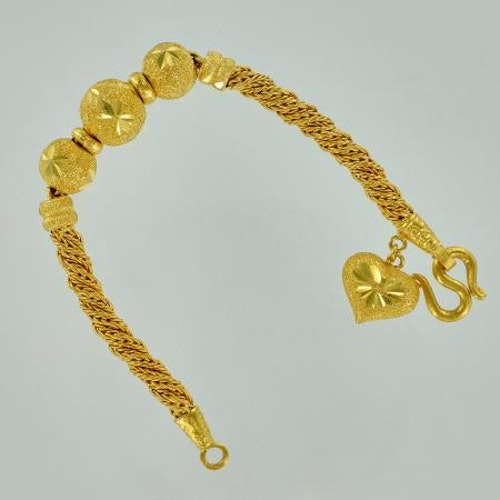 Thai gold bracelet with decor - 3 Baht 45,6 G