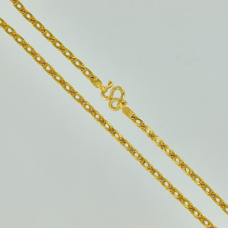 Thai gold necklace, 2 Baht 23K - 30,4, G