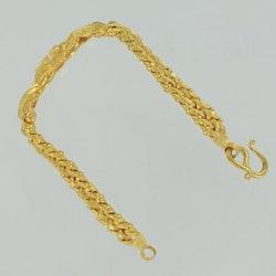 Bracelet, Thai gold 2 Baht 23K 30,4 G
