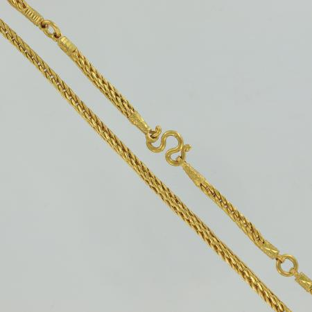 Thai gold necklace with gold rings, 3 baht, 23 K