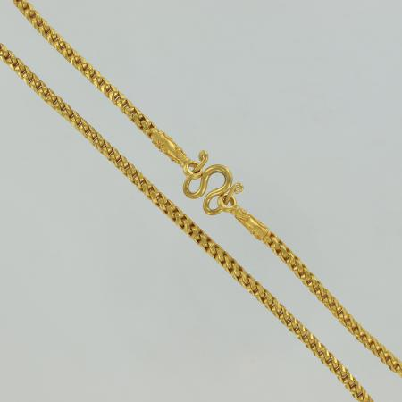 Thai gold necklace / collier, 5 Baht, 23 K - 76 G