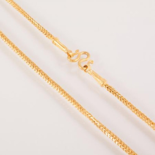 Collier / necklace, Thai gold 2 Baht, 23 K - 30,4 G