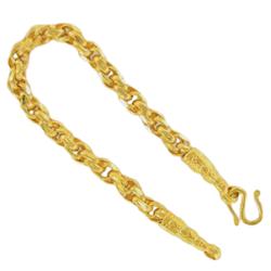 Thai gold bracelet, 1 Baht, 15,2 G, 15,5 cm long