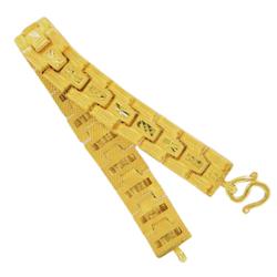 Thai gold wide bracelet, 1 Baht, 15,2 G, 15,5 cm long