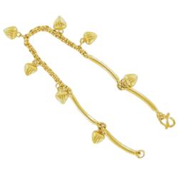 Thai gold bracelet with hearts, ½ slung, 7,6 g, 15,5 cm
