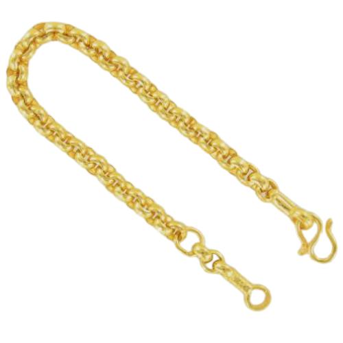 Thai gold bracelet, ½ slung, 7,6 g, 14 cm