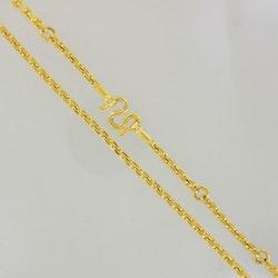 Thai gold necklace, 10 Baht, 23K, 151,8 g, 71,5 cm